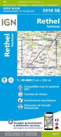 Topo-, Wandelkaart Rethel / Tourteron | IGN 2910SB | 1:25.000 | ISBN 9782758534419