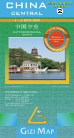Wegenkaart China Centraal 02 | Gizimap | 1:2 miljoen | ISBN 9789638703040
