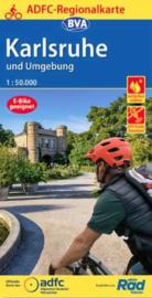 Fietskaart Karlsruhe & Umgebung | BVA - ADFC | 1:50.000 | ISBN 9783870739515
