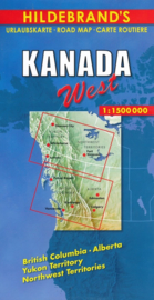 Wegenkaart  Canada West   1:1,5 miljoen   Hildebrand   ISBN 9783889892782