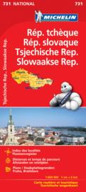 Wegenkaart Tsjechië en Slowakije | Michelin | 1:600.000 | ISBN 9782067171817