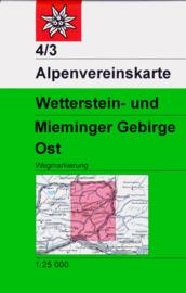 Wandelkaart Wetterstein - Mieminger Ost 4/3 | OAV  | 1:25.000 | ISBN 9783928777117