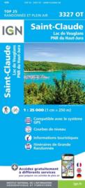 Wandelkaart St.Claude, Lac de Vouglans | Jura | IGN 3327 OT - IGN 3327OT | ISBN 9782758546665