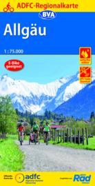 Fietskaart  Allgäu | ADFC - BVA Regionalkarte | 1:75.000 | ISBN 9783870739201