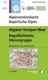 Wandelkaart Allgäuer Voralpen West - Nagelfluhkette, Hörnergruppe | DAV BY1 | ISBN 9783937530413