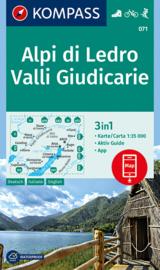 Wandelkaart Alpi Di Ledro - Valli Giudicarie | Kompass 071 | 1:35.000 | ISBN 9783990445020
