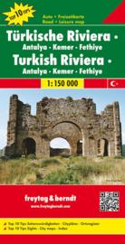 Wegenkaart Turkse Riviera | Freytag & Berndt - Antalya - Kemer - Fethiye | 1:150.000 | ISBN 9783707903300