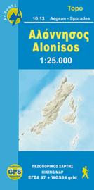 Wandelkaart Alonisos | Anvasi 10.13 | 1:30.000 | ISBN 9789608195288