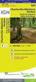 Wegenkaart - Fietskaart Charleville Mézières - Verdun | IGN 105 | ISBN 9782758540779
