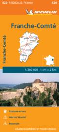 Wegenkaart Franche-Comté  2021 | Michelin 520 | ISBN 9782067249738