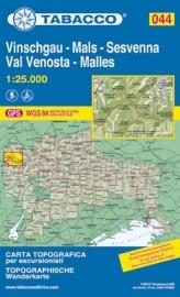 Wandelkaart Val Venosta - Sesvenna | Tabacco 44 | 1:25.000 | ISBN 9788883150609
