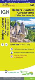 Wegenkaart - fietskaart Béziers - Montpellier - Lodeve - Castres | IGN 169 | ISBN 9782758547778