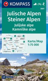 Wandelkaart-Fietskaart Julische Alpen - Steiner Alpen | Kompass 2801 | 1:75.000 | ISBN 9783991212225
