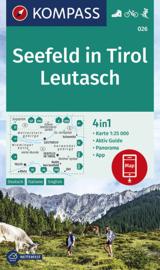 Wandelkaart Seefeld in Tirol - Leutasch | Kompass 026 | 1:35.000 | ISBN 9783990445501