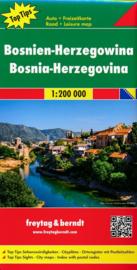 Wegenkaart  Bosnië & Herzegovina | Freytag & Berndt | 1:200.000 | ISBN 9783707916638