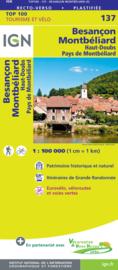 Wegenkaart - fietskaart Besançon - Lausanne - Pontarlier - Neuchâtel - Jura | IGN 137 | ISBN 9782758547594