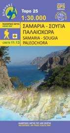 Wandelkaart Samaria - Soughia - Kreta | 1:25.000 | Anavasi 11.13 | ISBN 9789608195851