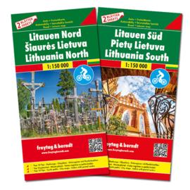 Wegenkaart - Fietskaart Litouwen Zuid en Noord | 1:150.000 | ISBN 9783707917741