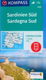Wandelkaart Sardinië  Zuid | Kompass 2499 | 1:50.000 | ISBN 9783990443231