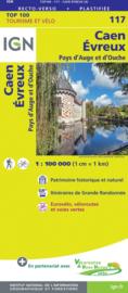 Wegenkaart - Fietskaart Caen - Evreux | IGN 117 | ISBN 9782758547518