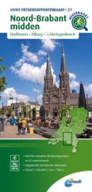 Fietskaart Noord Brabant midden   ANWB 21   1:100.000   ISBN 9789018046941