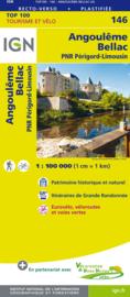 Wegenkaart - Fietskaart Angoulême - Bellac | IGN 146 | ISBN 9782758543787