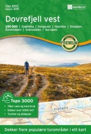 Wandelkaart Dovrefjell Sunndalsfjella 2497   Nordeca   1:50.000   ISBN 7040666030198