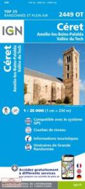 Wandelkaart Ceret/Amelie-les-Bains  | Pyreneeën | IGN 2449OT - IGN 2449 OT  | ISBN 9782758543046