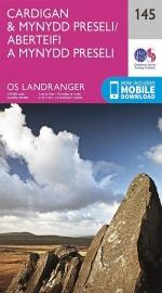 Wandelkaart Ordnance Survey | Cardigan & Mynnyd Preseli 145 | ISBN 9780319262436