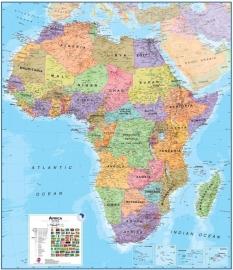 Wandkaart Afrika - papier | Maps International | 1:8 miljoen | ISBN 9781903030837