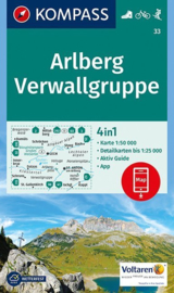 Wandelkaart Arlberg -Verwallgruppe | Kompass 33 | 1:50.000 | ISBN 9783990443118