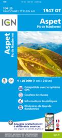 Wandelkaart Aspet, Pic de Mauberme, Fos, Sentein, Col de Portet d`Aspet | Pyreneeën | IGN 1947OT - IGN 1947 OT