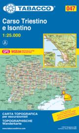Wandelkaart Carso Triestino e Isontino | Tabacco 47 | 1:25.000 | ISBN 9788883150685