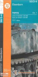 Topografische kaart Belgie NGI 50 / 3-4 Elsenborn - Langert - Robertville | 1:25.000 - ISBN 9789462352315