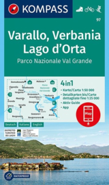 Wandelkaart Varallo - Verbenia - Lago d`Orta | Kompass 97 | 1:50.000 | ISBN 9783990445525