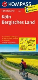 Fietskaart Köln - Bergisches Land | Kompass 3056 | 1:70.000 | ISBN 9783850262767