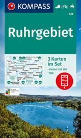 Wandelkaart Ruhrgebiet - 3 delige set   Kompass 821   1:50.000   ISBN 9783991210818