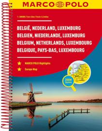 Wegenatlas Benelux | 1:200.000 | Marco Polo | ISBN 9783829736817