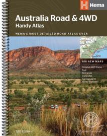 Wegenkaart Australia handy road Atlas| HEMA Maps | Grootte 23 x 17 cm | ISBN 9781876413750