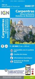 Wandelkaart Carpentras - Vaison-la-Romaine - Dentelles de Montmirail | Drome | IGN 3040ET - IGN 3040 ET | ISBN 9782758551553
