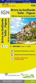 Wegenkaart - fietskaart Brive-La-Gaillarde Figeeac | IGN 154 | ISBN 9782758543800