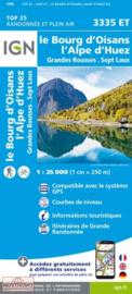Wandelkaart Alpe d Huez, Le Bourg d Oisans, Col du Glandon, Col de la Croix de Fer | IGN 3335ET - IGN 3335 ET | ISBN 9782758551607