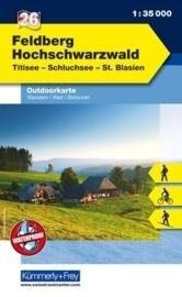 Wandelkaart Schwarzwald Feldberg - Titisee -  Hochschwarzwald  | Kümmerly & Frey 26 | 1:35.000 | ISBN 9783259025260