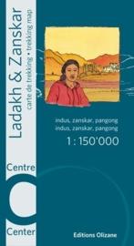Trekkingmap India - Ladakh Zanskar - Centre | Editions Olizane | 1:150.000 | ISBN 9782880864132