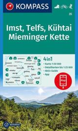Wandelkaart Imst - Telfs - Kuhtai - Mieminger Kette | Kompass 35 | 1:50.000 | ISBN 9783990444139