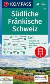 Wandelkaart Südliche Fränkische Schweiz | Kompass 171 | 1:50.000 | ISBN 9783990443279
