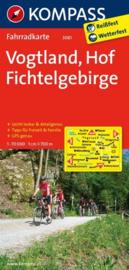 Fietskaart Vogtland - Hof - Fichtelgebirge | Kompass 3081 | 1:70.000 | ISBN 9783850265843