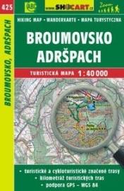 Wandelkaart Tsjechië -  Broumovsko, Adršpach | Shocart 425 | ISBN 9788072247035