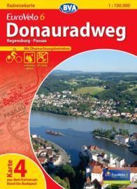 Fietskaart Eurovelo 6 kaart nr. 04. Regensburg - Passau | 1 : 100 000 | BVA  | ISBN  9783870736163