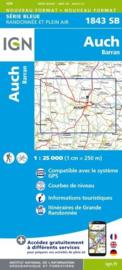 Topo-, wandelkaart Auch / Barran |  IGN 1843SB | ISBN 9782758537106